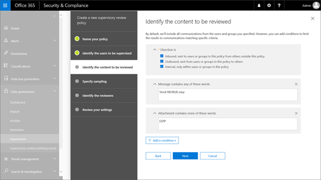 A Static State: Office 365 Supervision