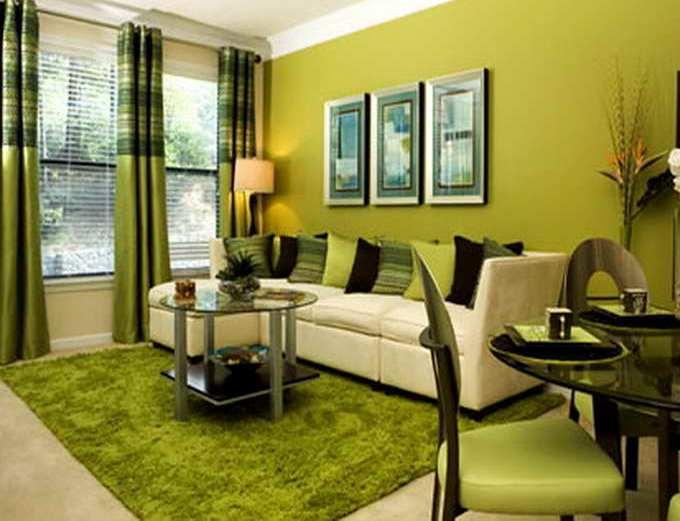 50 gambar model ruang tamu warna hijau klasik
