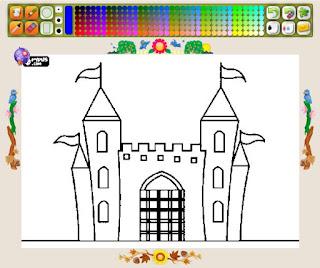 http://www.colorirgratis.com/desenho-de-castelo-com-uma-porta-grande_4600.html