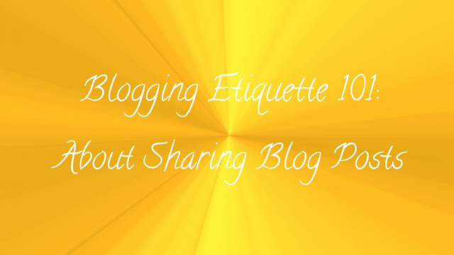 Blogging Etiquette 101: Sharing blog posts and social media shoutouts image