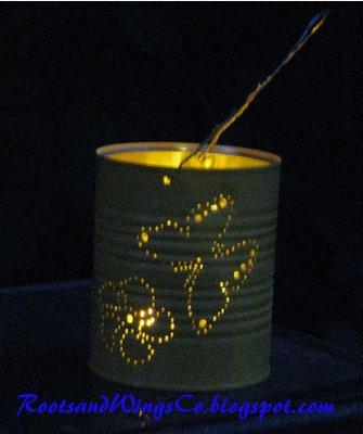 candil, portavelas, candelabros, latas, reciclar, manualidades