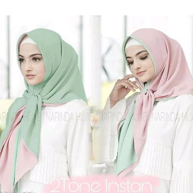 Jilbab Instan 2 Layer 2 Warna Cantik Terbaru Modis Warna Hijau Muda