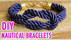 3 DIY Nautical Rope Bracelets