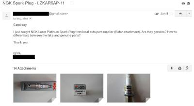 NGK Spark Plug Email