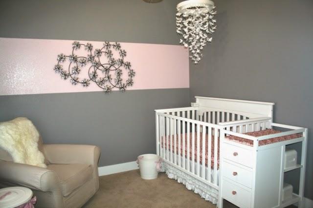 10 cuartos de beb s en rosa y gris colores en casa for Habitacion bebe gris