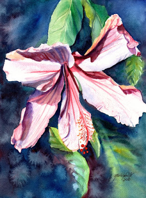 https://www.etsy.com/listing/273385600/pink-hibiscus-painting-original