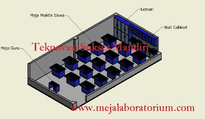 furnitur lab fisika sekolah