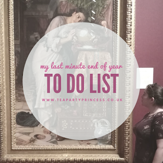 Five Things I Need To Do Before The End Of The Year, to do list