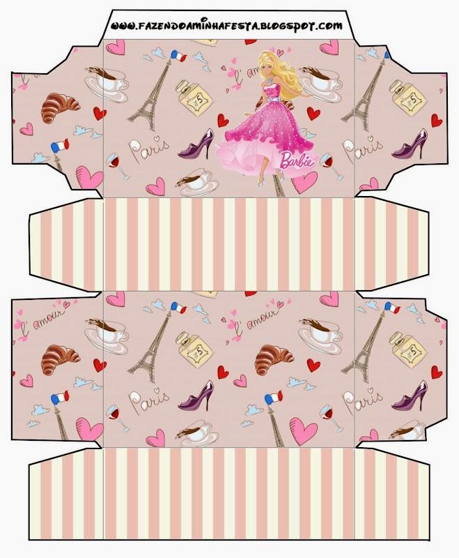Barbie Magic and Fashion Free Printable Box.