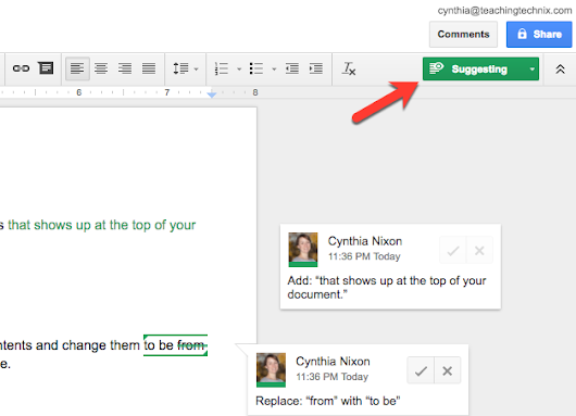 Google Docs: Editing, Suggesting, and Viewing