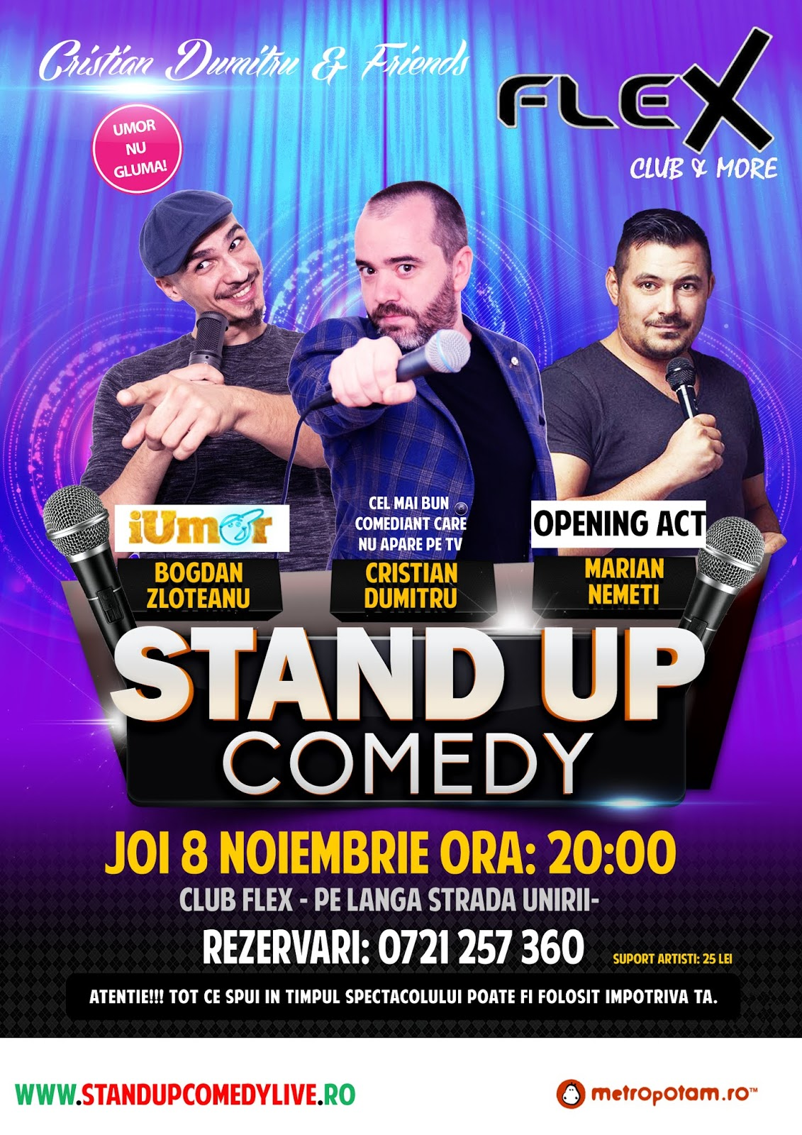 Stand-Up Comedy Arad Joi 8 Noiembrie 2018