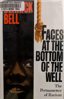 Book cover to Derrick Bell - Faces at the Bottom of the Well