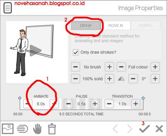 cara mengatur image properties di tutorial menggunakan fitur pada tombol menu add image (tambah gambar) sebagai elemen video animasi di VideoScribe