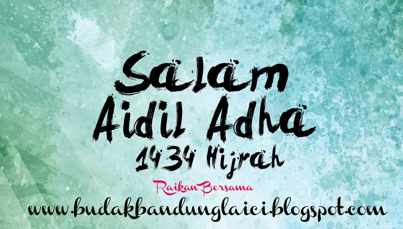 Selamat Hari Raya Haji 2013  Budak Bandung Laici