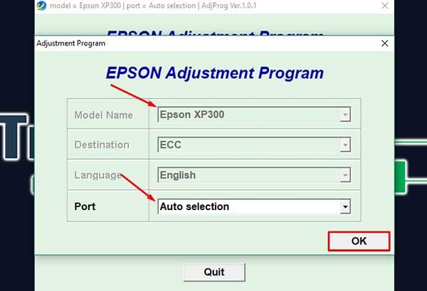 Resetter impresora epson expression home XP-400