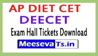 AP DIET CET (DEECET) Exam Hall Tickets Download 2017
