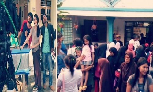Liburan Akhir Pekan Lokasi Syuting Film Dunia Terbalik Dibanjiri Fans