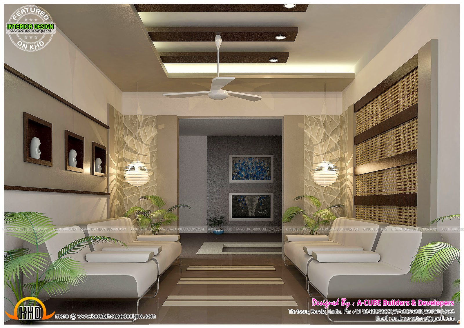 Pooja living home gym and office interiors kerala home for Office interior design ideas in india