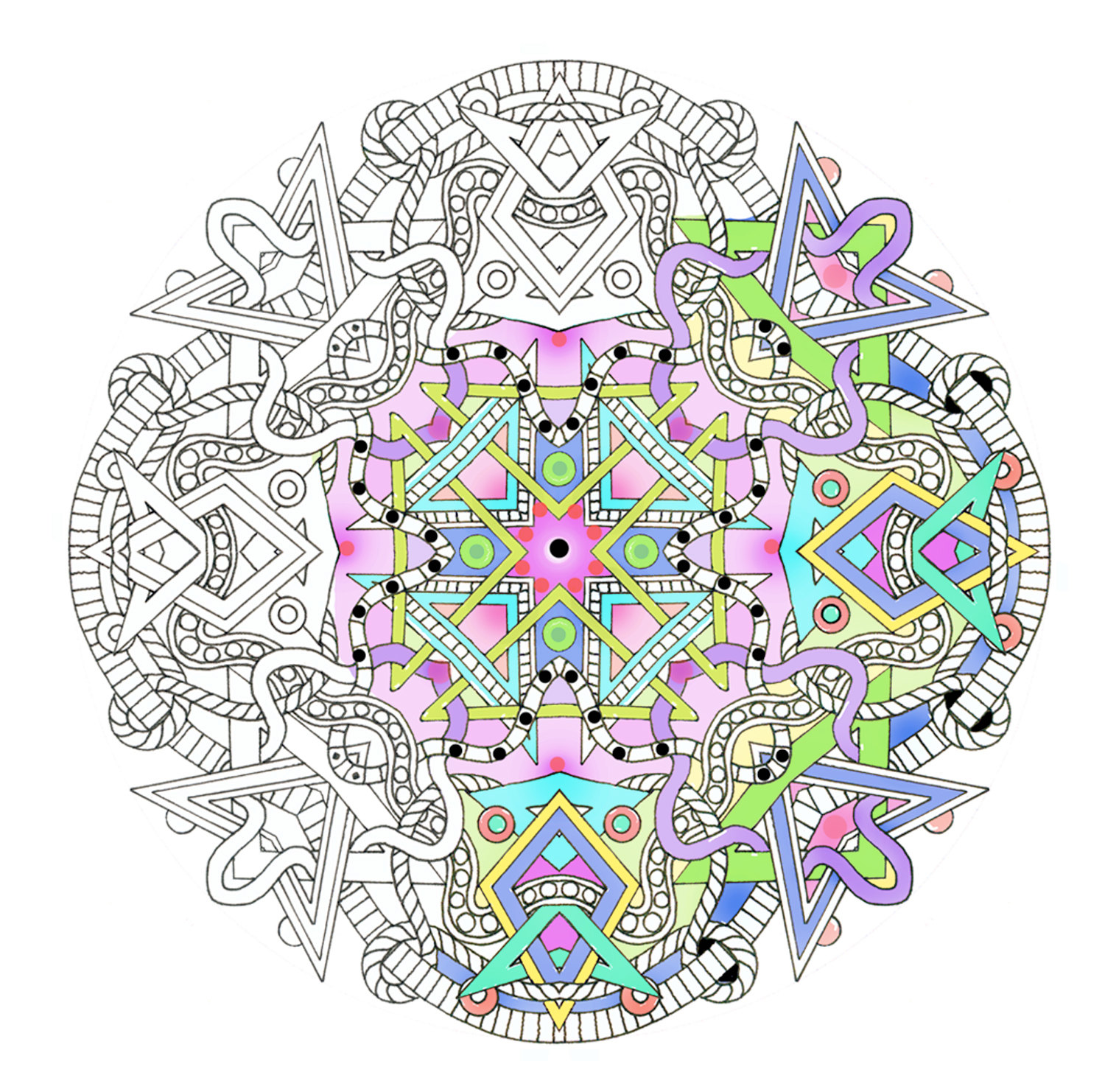 Adult Coloring Pages: City Of Kik: The Grown-Up Coloring Book Trend