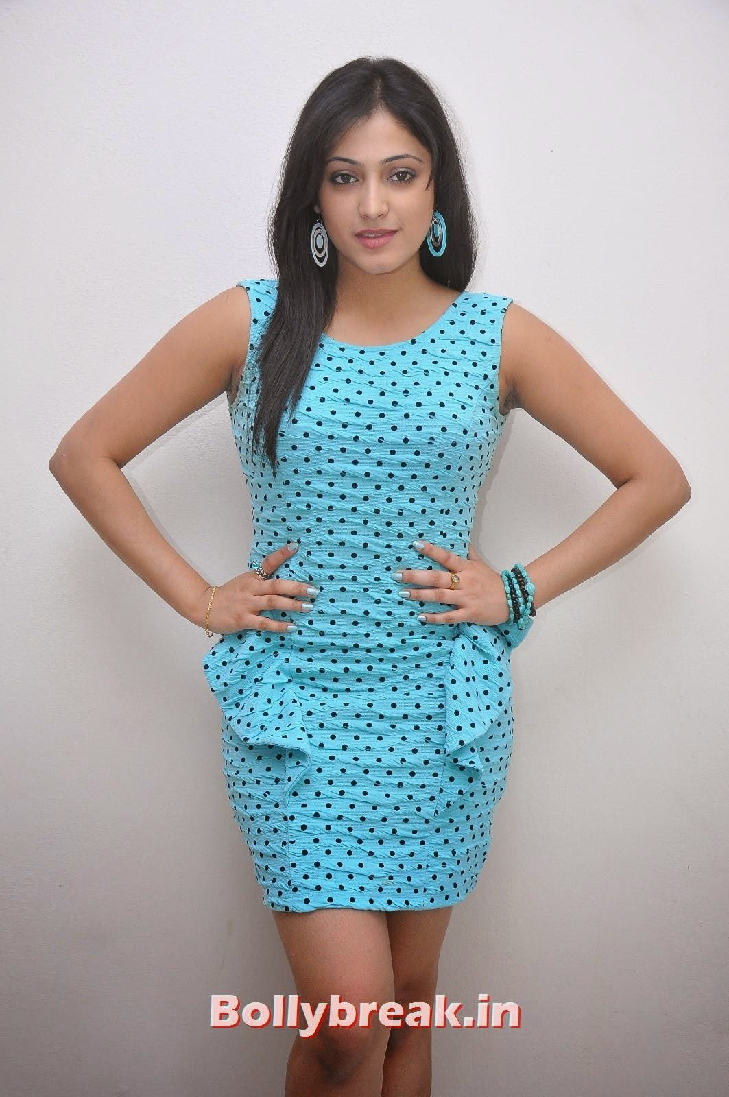 , Haripriya Hot Tatto Photoshoot Pics in Sky Blue Dress