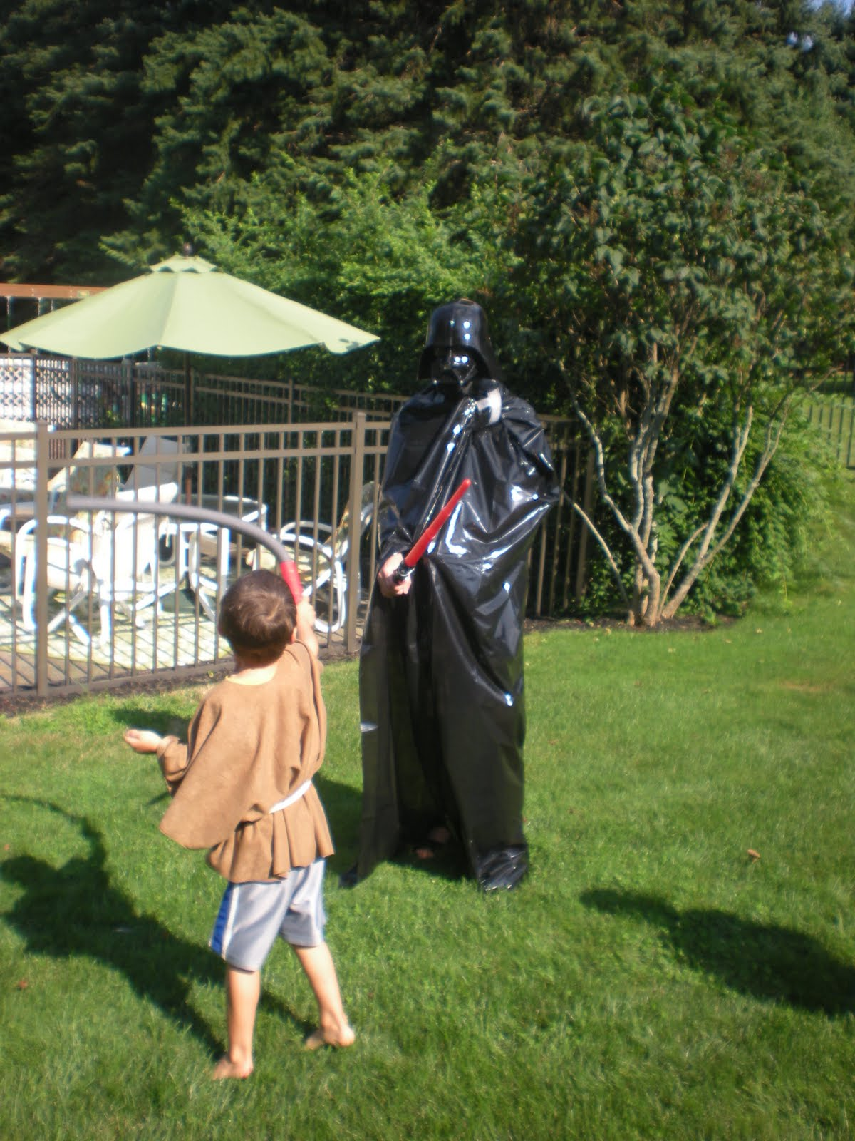DIY Star Wars Birthday party robes u0026 jedi sticks - Four Generations One Roof & DIY Star Wars Birthday party robes u0026 jedi sticks - Four ...