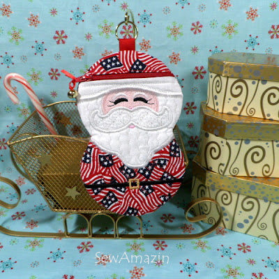 All America Santa Zipper Case