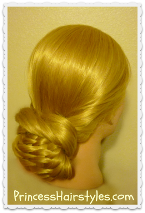 layered woven braid updo hairstyle