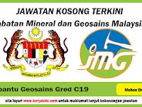 Jawatan Kosong Jabatan Mineral dan Geosains Malaysia