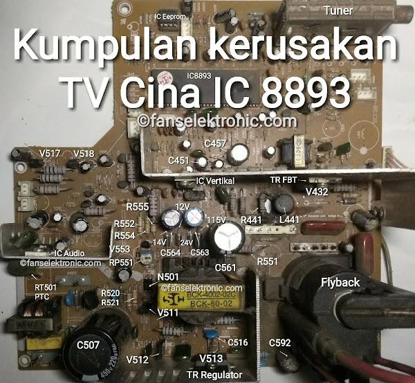 Kerusakan TV Cina IC 8893