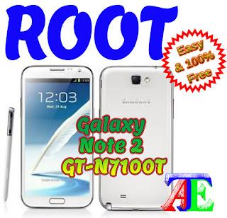 Root Galaxy Note 2 GT-N7100T Kikat
