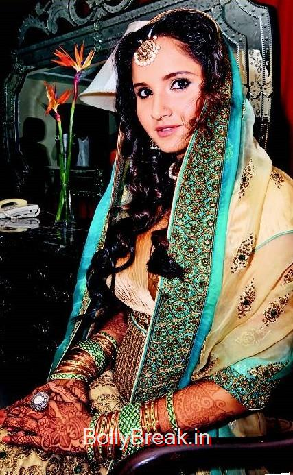 Sania looks like a picture perfect bride in this memory from her nuptials,  7 Rare Unseen Pictures of Sania Mirza