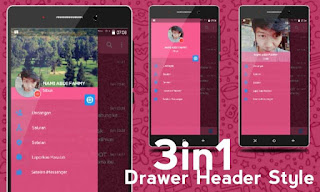 BBM iMessenger V7 Cute Pink Theme base V3.0.1.25 MOD APK1