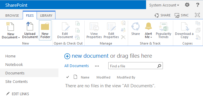 sharepoint 2013 create a folder