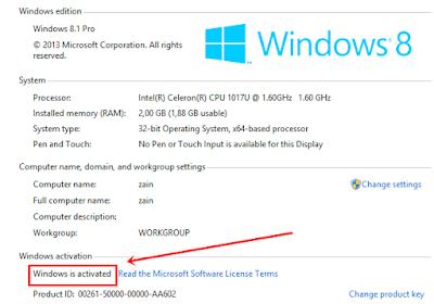 Aktivasi Windows 8.1 Permanent Offline