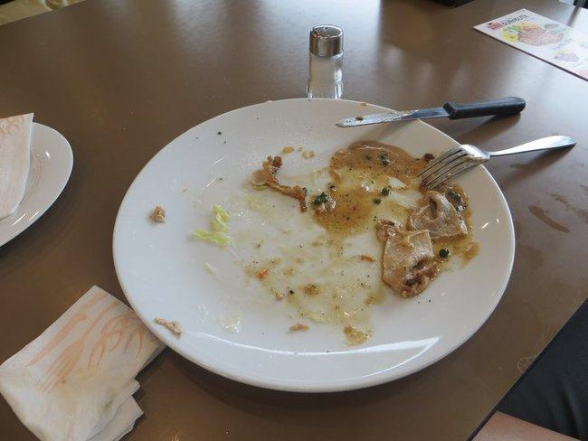 грязная тарелка после еды
