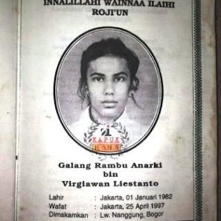 kematian Galang Rambu Anarki 1997