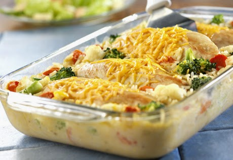 Cheesy Chicken and Vegetable Rice
