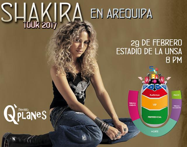 Shakira en Arequipa 2017