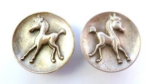 Vintage 40's Horse/Foal Clip On Earrings.