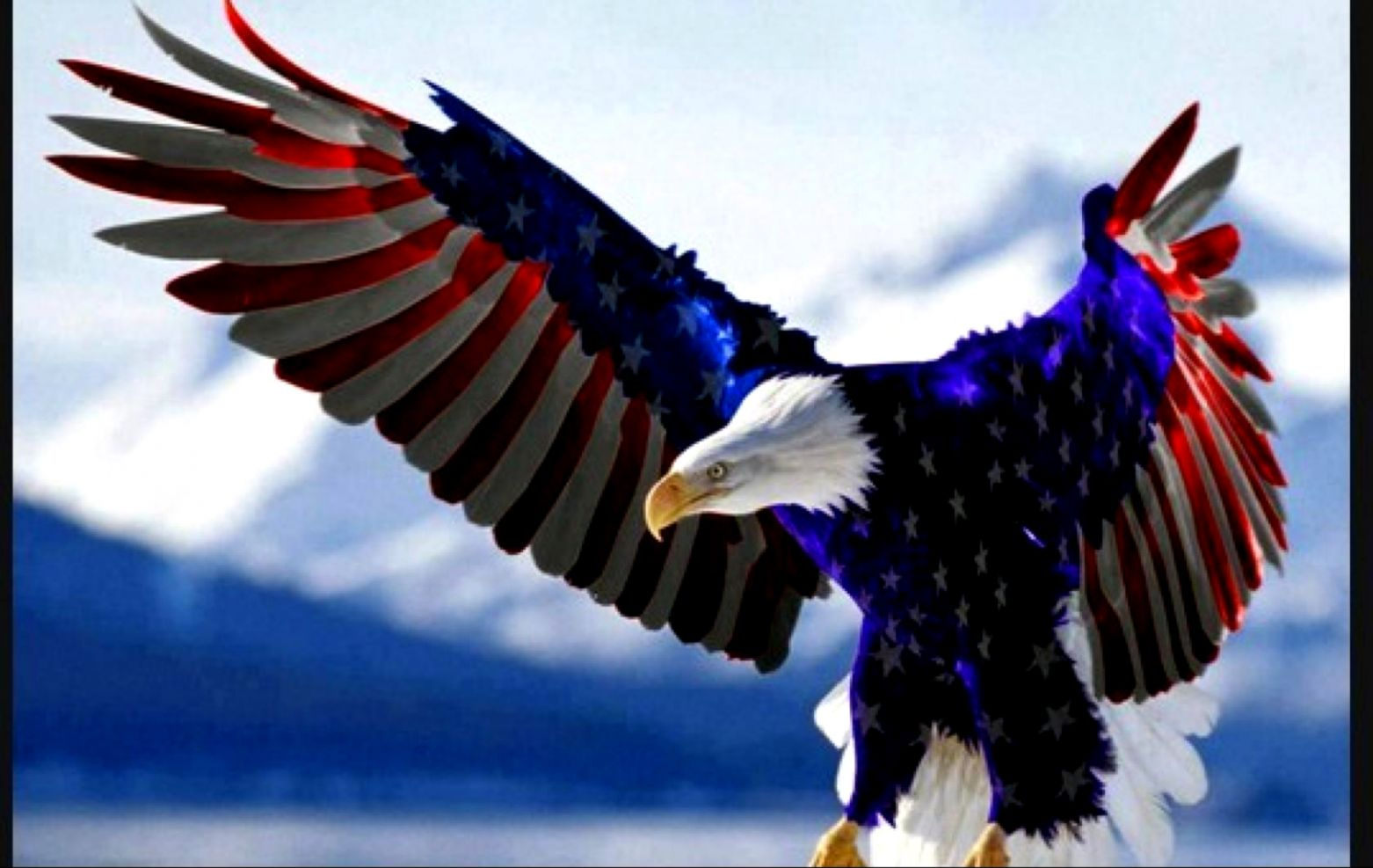 Awesome Eagle Front American Flag Wallpaper Wallpapers Insert