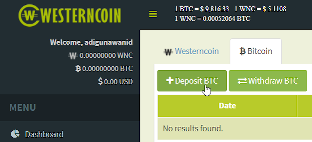 Cara Deposit Bitcoin ke WesternCoin