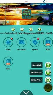 BBM MOD Chat Me Slow Green Apk Terkeren