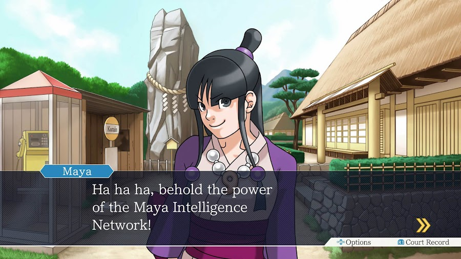 phoenix wright ace attorney trilogy maya fey visual novel