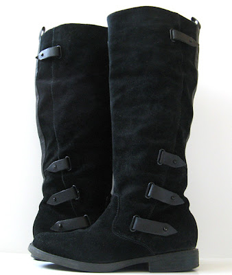 Tall Black Leather Suede Boots Guess Boots Womens Size 7 5