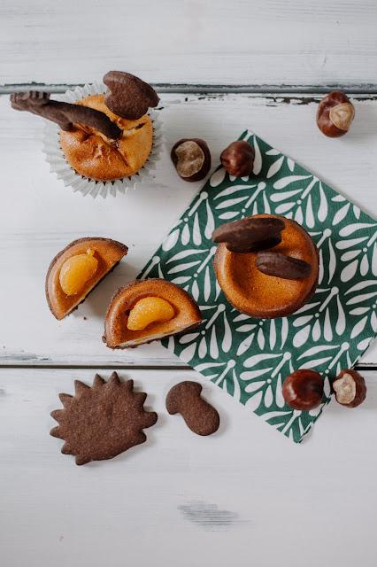 Herbstliche Zupfkuchen-Muffins mit Zimt und Mandarinen