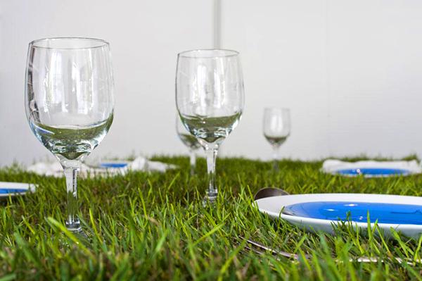 Genial mesa con un toque ecológico