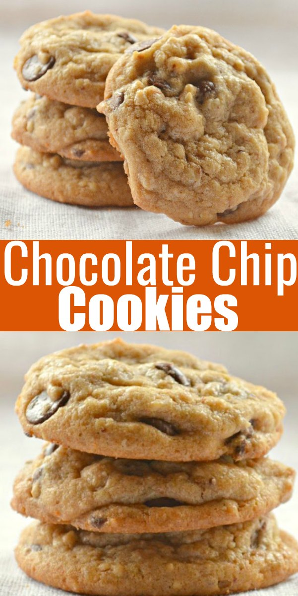 Perfect Chocolate Chip Cookies with brown butter, a soft chewy center and crispy edge make these the BEST Chocolate Chip Cookie ever! From Serena Bakes Simply From Scratch.