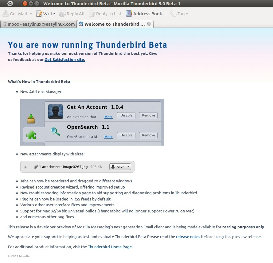 Thunderbird skips versions gets in sync with firefox - Tuxtrix