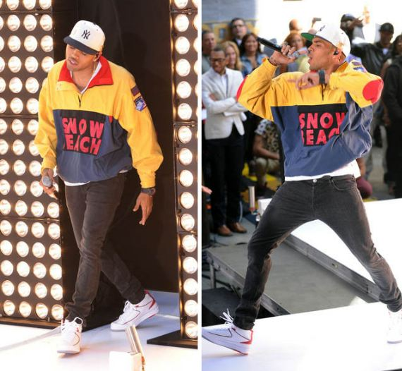 e0cbdf21971 Celeb Sneaker Game: Chris Brown Rockin Air Jordan 2 Sneakers