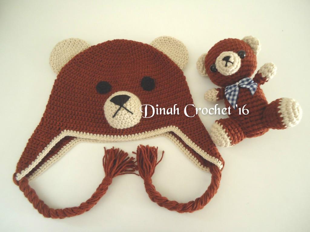 Amigurumi Earflap Hat : Dinah Crochet: Crochet bear dan earflap hat